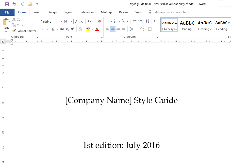Microsoft Word Formatting